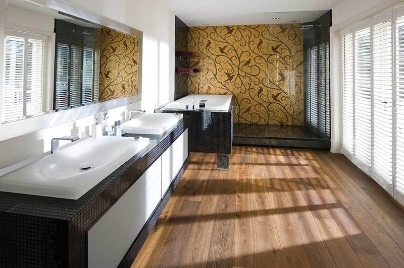 Parketvloeren van avancefloors zijn zelfs in je badkamer mogelijk